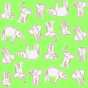 baby elephants mint n creme