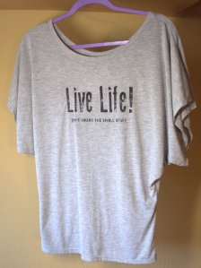 Women's Dolman Sleeve T shirt in Athletic Grey