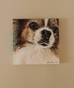 my third painting of my dog Candy!