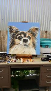 my second painting of my dog Eagan.