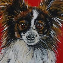 My first painting of my dog Finn